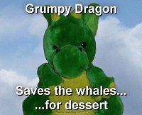 Windsor the Grumpy Dragon saves the whales... for dessert